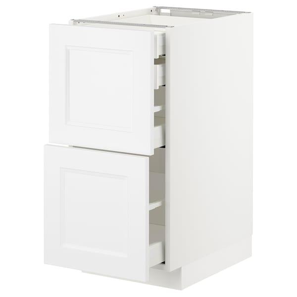 METOD / MAXIMERA Uschr 2 Fr/2 ni+1 haho+1 ho Sch, weiß/Axstad matt weiß, 40x60 cm