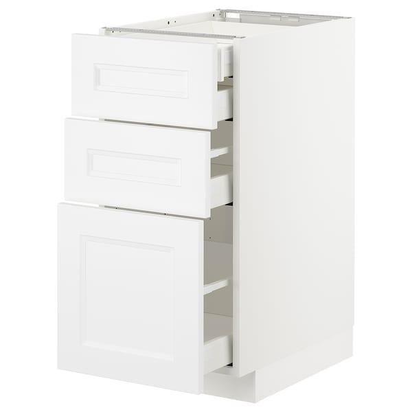METOD / MAXIMERA Uschr 3 Fr/2 ni+1 haho+1 ho Sch, weiß/Axstad matt weiß, 40x60 cm
