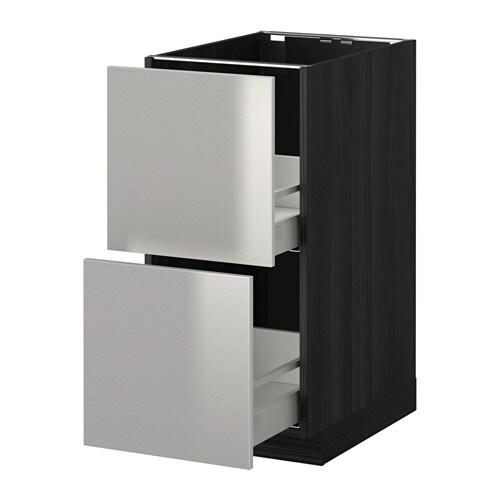 metod maximera uschr 2 fr 2 haho sch holzeffekt schwarz grevsta edelstahl 40x60 cm ikea. Black Bedroom Furniture Sets. Home Design Ideas