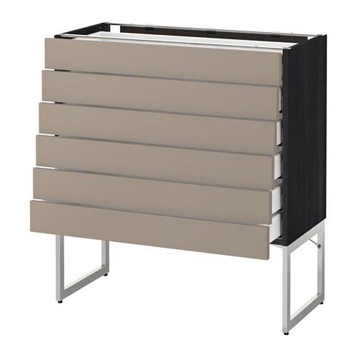 metod maximera uschr 6 fr 6 ni sch holzeffekt schwarz ubbalt dunkelbeige 80x37x60 cm ikea. Black Bedroom Furniture Sets. Home Design Ideas