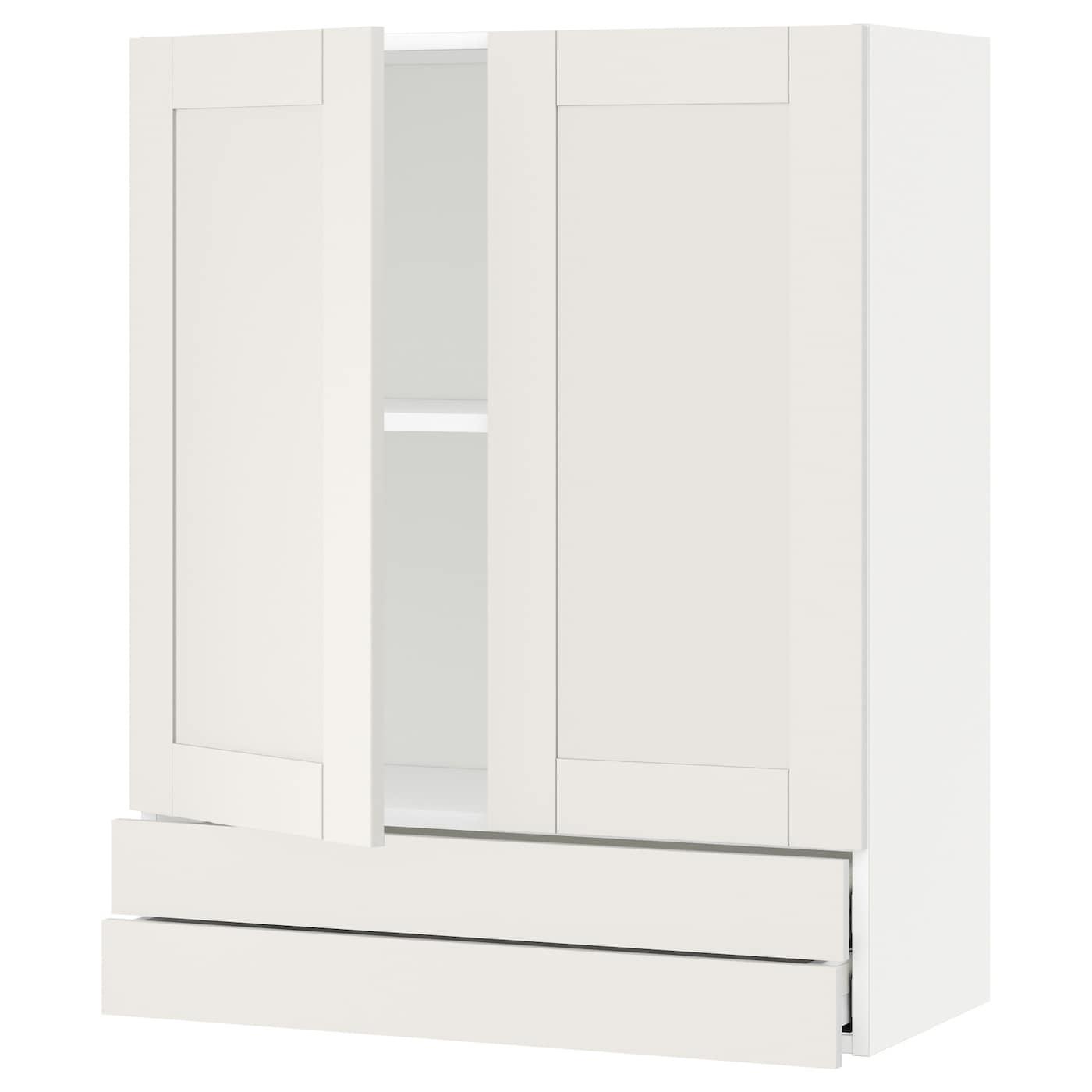 METOD / MAXIMERA, Wandschrank mit 2 Türen/2 Schubl., weiß 292.712.46