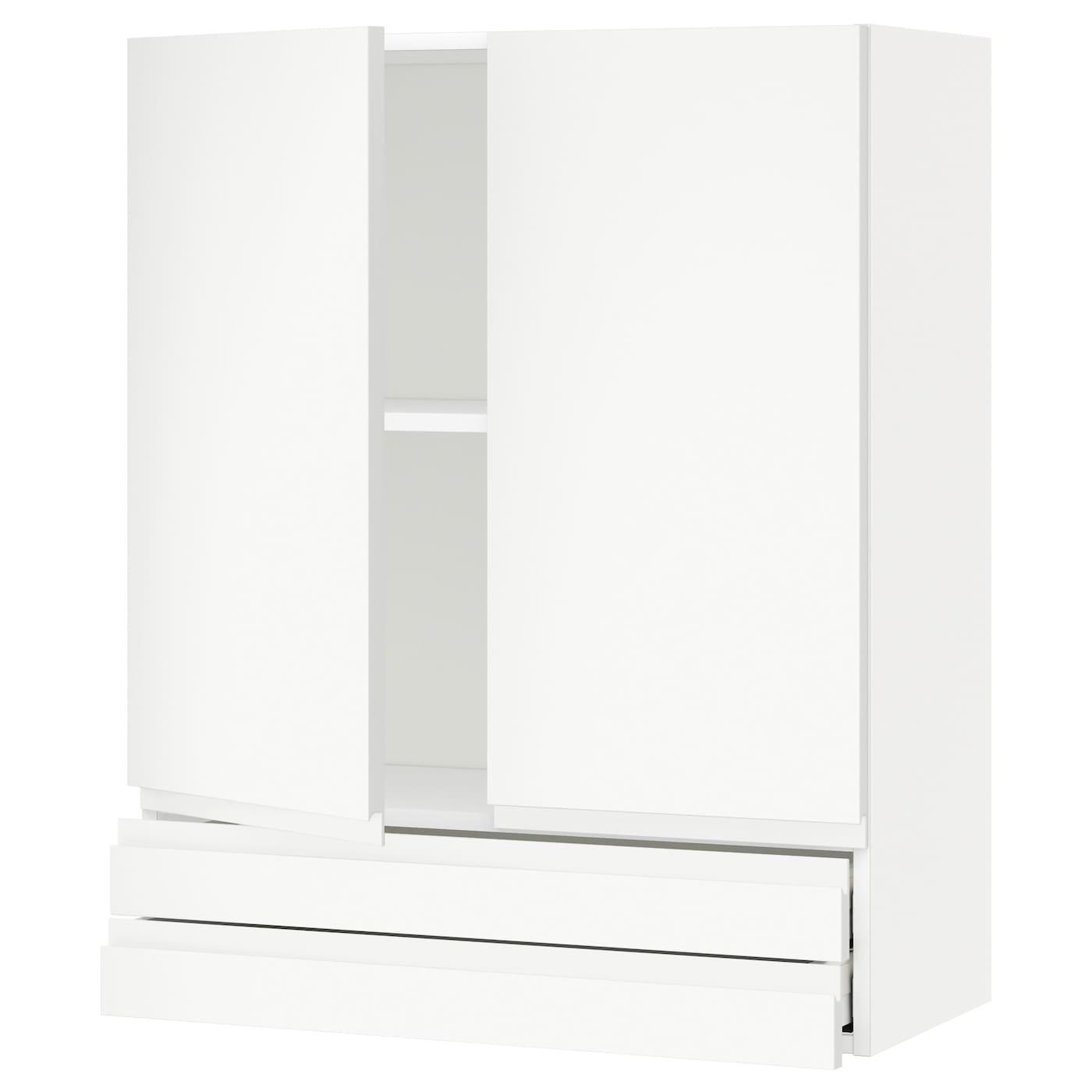 METOD / MAXIMERA, Wandschrank mit 2 Türen/2 Schubl., weiß 192.712.42