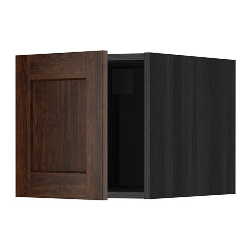 metod oberschrank edserum holzeffekt braun holzeffekt schwarz ikea. Black Bedroom Furniture Sets. Home Design Ideas