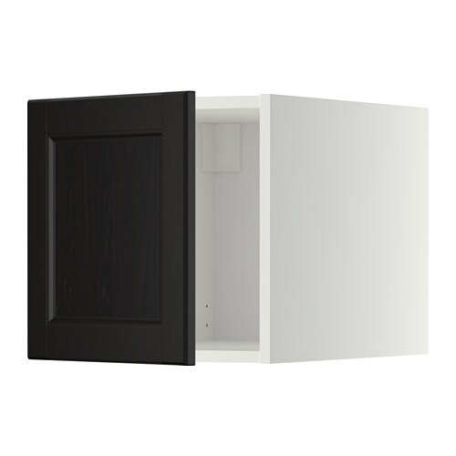 metod oberschrank wei laxarby schwarzbraun ikea. Black Bedroom Furniture Sets. Home Design Ideas