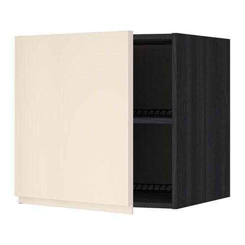 metod oberschrank f k hl gefrierschrank holzeffekt schwarz voxtorp hellbeige 60x60 cm ikea. Black Bedroom Furniture Sets. Home Design Ideas