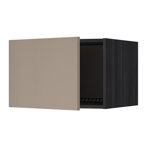 metod oberschrank f k hl gefrierschrank holzeffekt schwarz ubbalt dunkelbeige 60x40 cm ikea. Black Bedroom Furniture Sets. Home Design Ideas