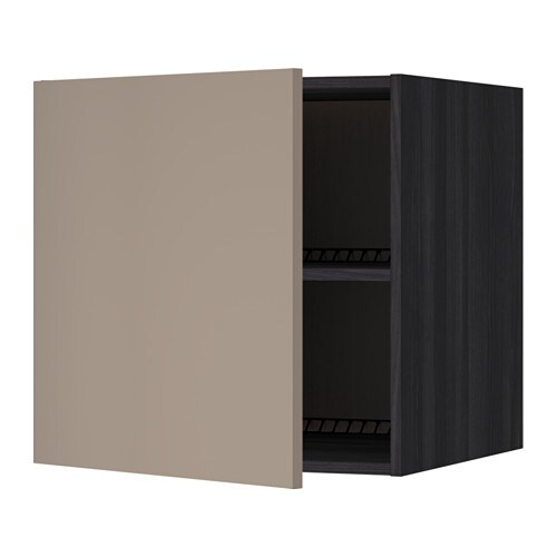 metod oberschrank f k hl gefrierschrank holzeffekt schwarz ubbalt dunkelbeige 60x60 cm ikea. Black Bedroom Furniture Sets. Home Design Ideas