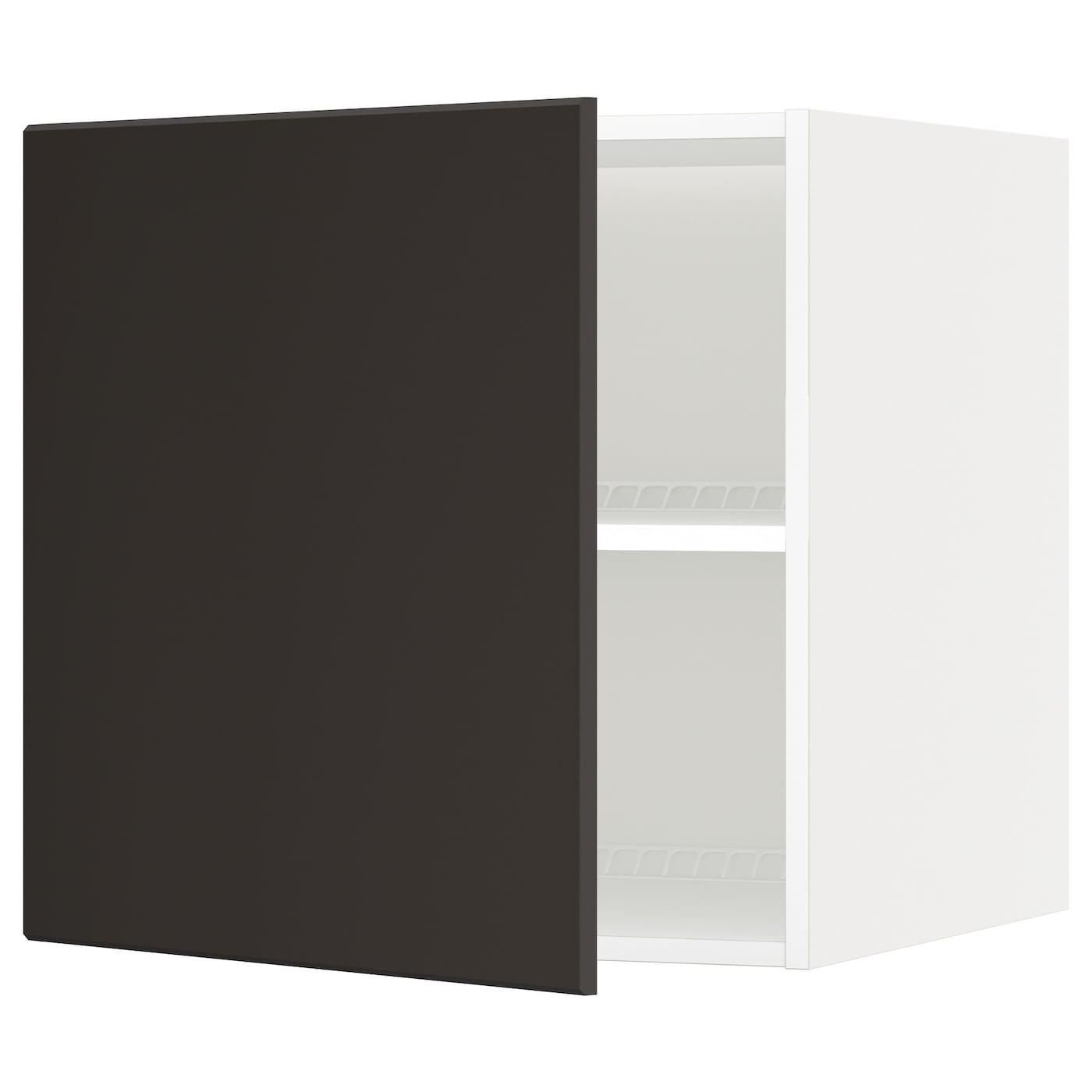 METOD, Oberschrank für Kühl-/Gefrierschrank, weiß, anthrazit 792.118.44