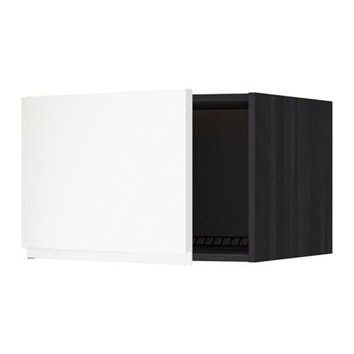 metod oberschrank f k hl gefrierschrank holzeffekt schwarz voxtorp matt wei 60x40 cm ikea. Black Bedroom Furniture Sets. Home Design Ideas