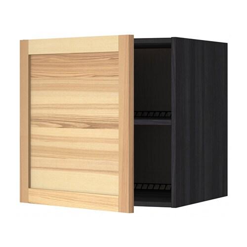 metod oberschrank f k hl gefrierschrank holzeffekt schwarz torhamn naturfarben esche 60x60. Black Bedroom Furniture Sets. Home Design Ideas