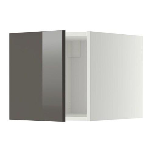 metod oberschrank ringhult hochglanz grau wei ikea. Black Bedroom Furniture Sets. Home Design Ideas