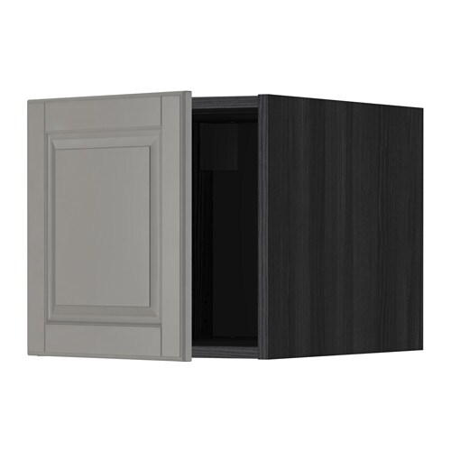 metod oberschrank holzeffekt schwarz bodbyn grau ikea. Black Bedroom Furniture Sets. Home Design Ideas