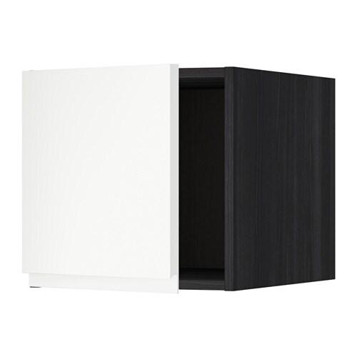 metod oberschrank holzeffekt schwarz voxtorp matt wei ikea. Black Bedroom Furniture Sets. Home Design Ideas