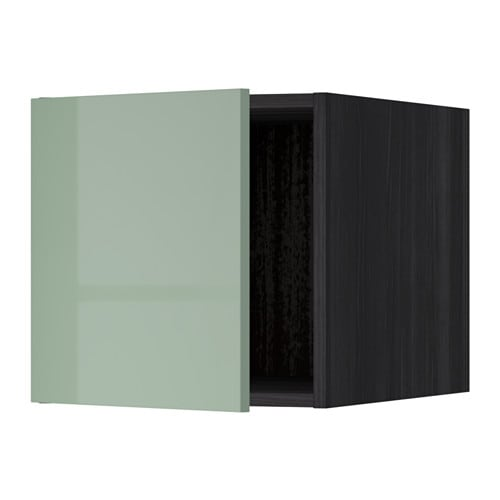 metod oberschrank holzeffekt schwarz kallarp hochglanz hellgr n ikea. Black Bedroom Furniture Sets. Home Design Ideas