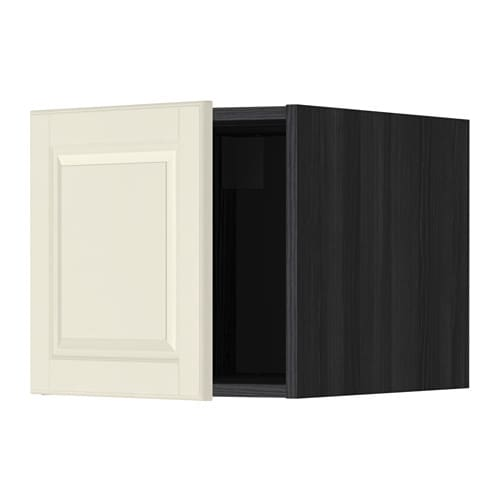 metod oberschrank holzeffekt schwarz bodbyn elfenbeinwei ikea. Black Bedroom Furniture Sets. Home Design Ideas