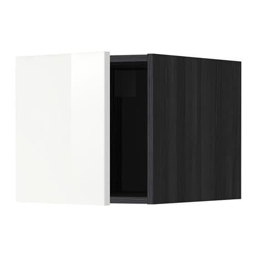 metod oberschrank holzeffekt schwarz ringhult hochglanz wei ikea. Black Bedroom Furniture Sets. Home Design Ideas