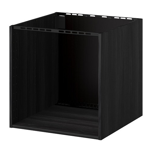 metod schrank f r kochfeld sp le holzeffekt schwarz 60x60x60 cm ikea. Black Bedroom Furniture Sets. Home Design Ideas