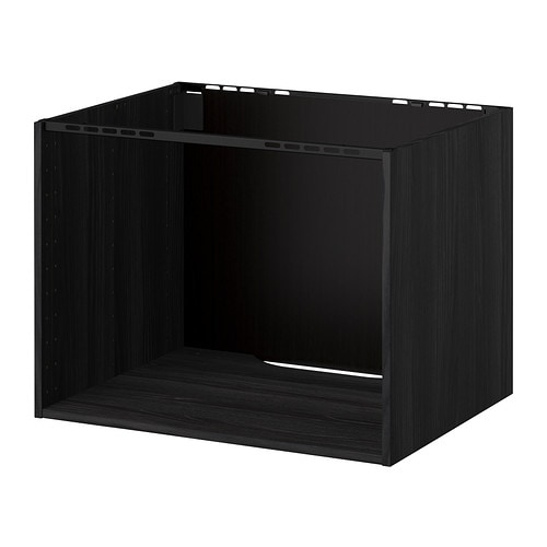 metod schrank f r kochfeld sp le holzeffekt schwarz 80x60x60 cm ikea. Black Bedroom Furniture Sets. Home Design Ideas