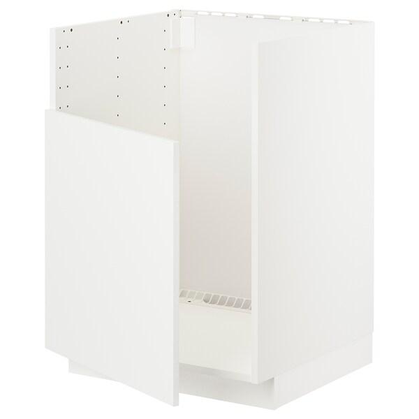 METOD Unterschr f BREDSJÖN Spüle, weiß/Häggeby weiß, 60x60 cm