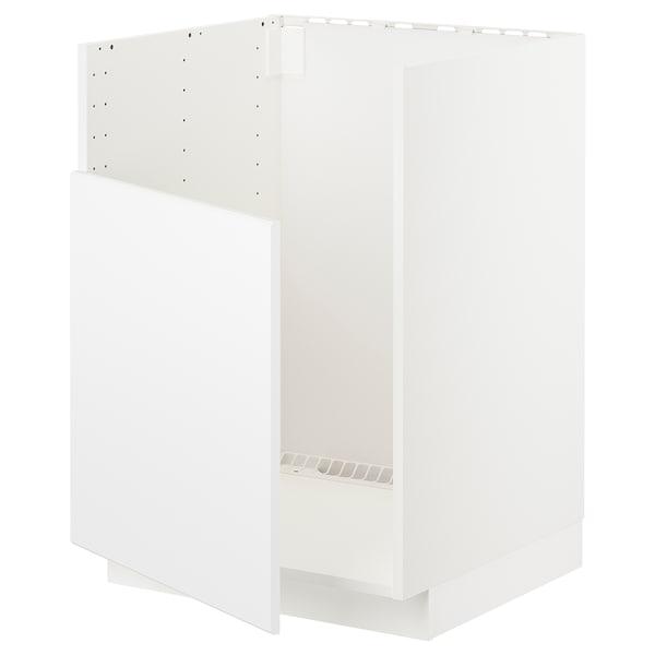METOD Unterschr f BREDSJÖN Spüle, weiß/Kungsbacka matt weiß, 60x60 cm