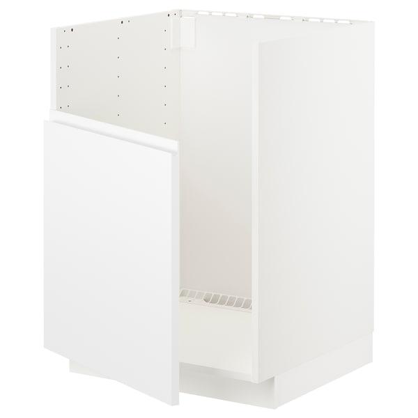 METOD Unterschr f BREDSJÖN Spüle, weiß/Voxtorp matt weiß, 60x60 cm