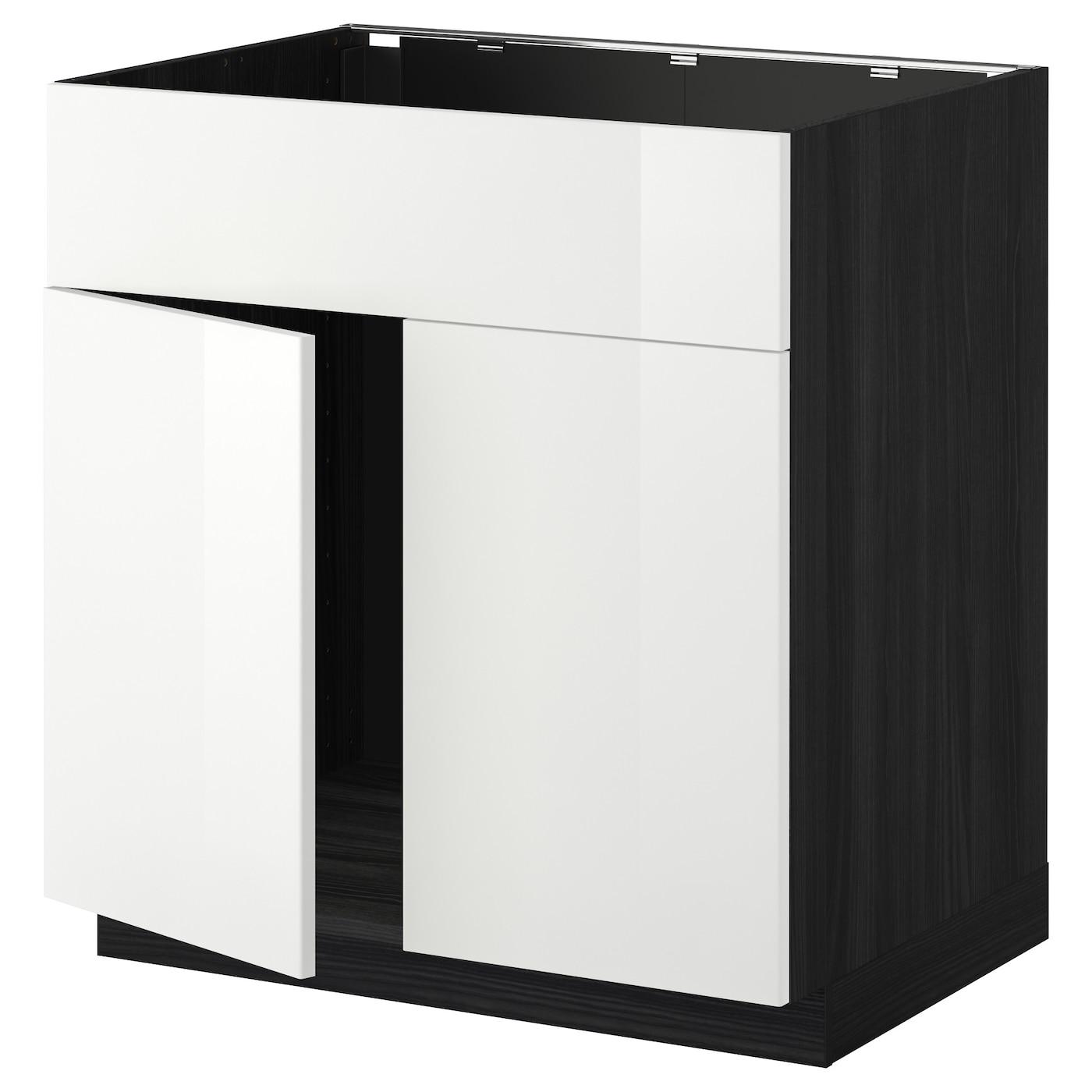 METOD, Unterschr für Spüle+2 Türen/Front, schwarz 490.276.06