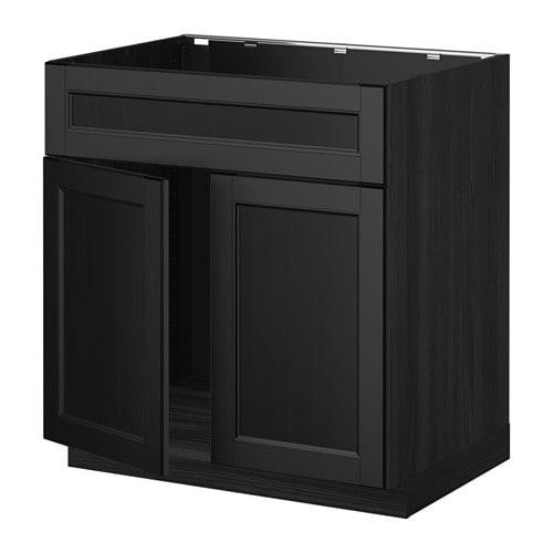 metod unterschr f sp le 2 t ren front holzeffekt schwarz laxarby schwarzbraun ikea. Black Bedroom Furniture Sets. Home Design Ideas
