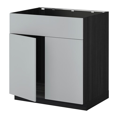 metod unterschr f sp le 2 t ren front holzeffekt schwarz veddinge grau ikea. Black Bedroom Furniture Sets. Home Design Ideas