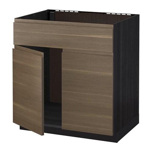 metod unterschr f sp le 2 t ren front holzeffekt schwarz voxtorp nussbaumnachbildung ikea. Black Bedroom Furniture Sets. Home Design Ideas