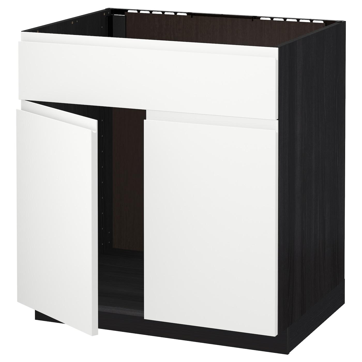 METOD, Unterschr für Spüle+2 Türen/Front, schwarz 791.114.39