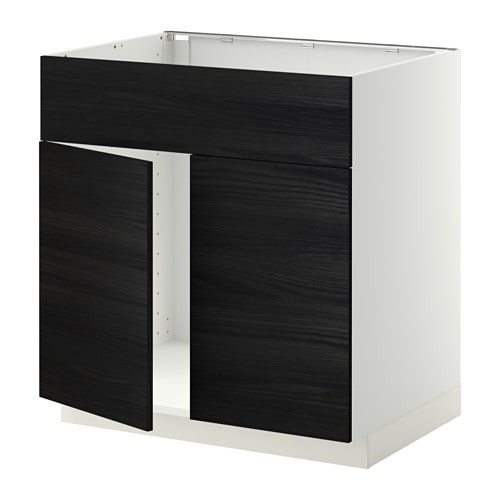 metod unterschr f sp le 2 t ren front wei tingsryd holzeffekt schwarz ikea. Black Bedroom Furniture Sets. Home Design Ideas