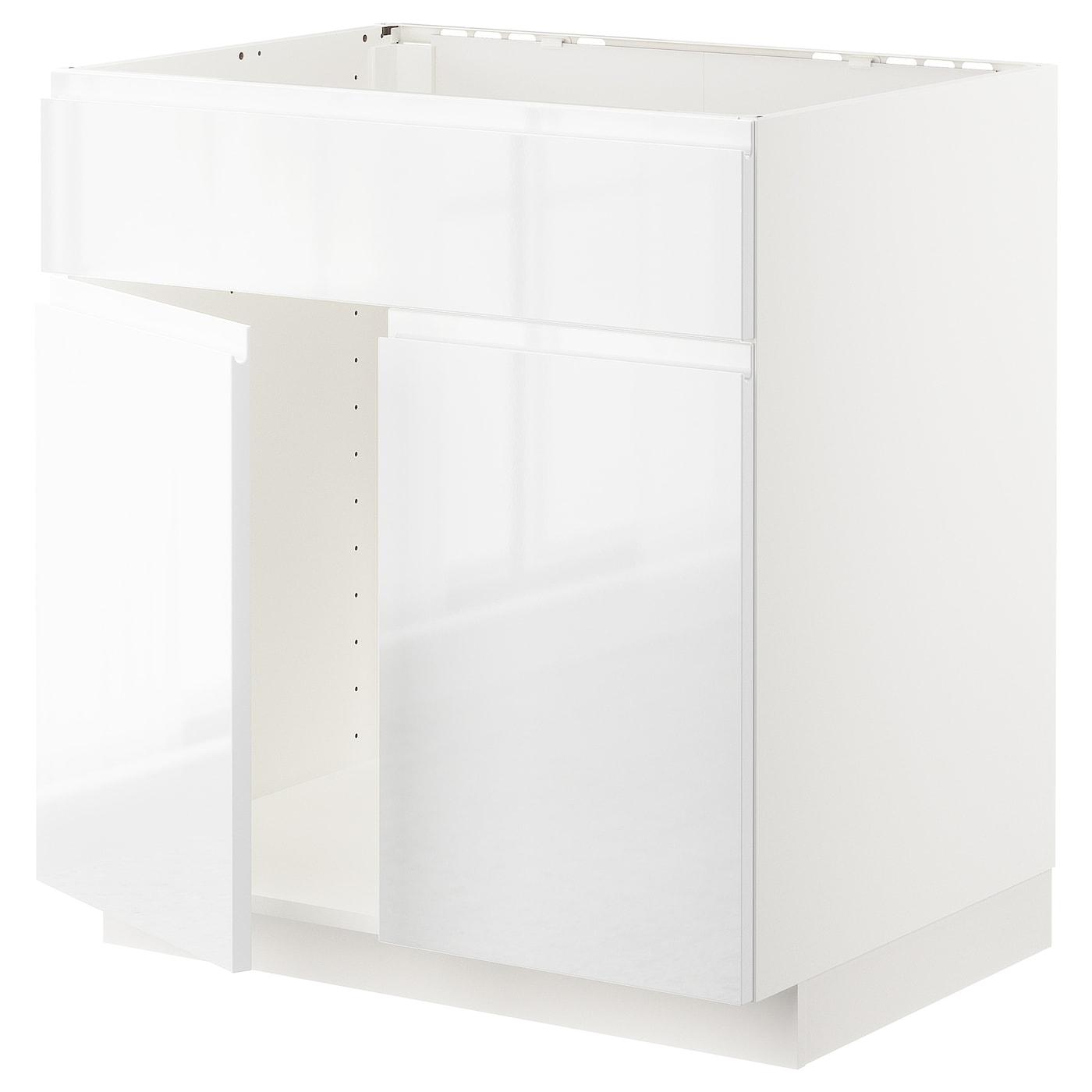 METOD, Unterschr für Spüle+2 Türen/Front, weiß 692.541.60