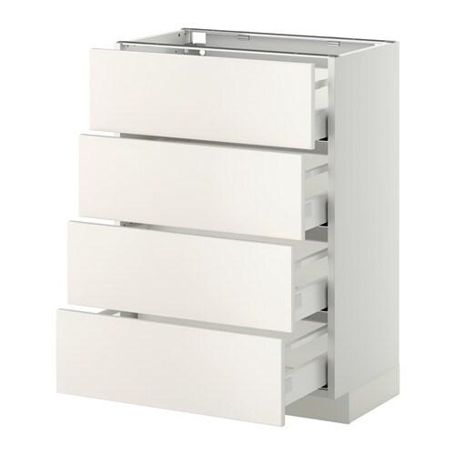 metod unterschr 4 fronten 4 schubladen wei veddinge wei 60x37 cm ikea. Black Bedroom Furniture Sets. Home Design Ideas
