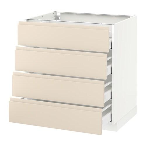 metod unterschr 4 fronten 4 schubladen wei voxtorp hellbeige 80x60 cm ikea. Black Bedroom Furniture Sets. Home Design Ideas