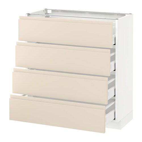 metod unterschr 4 fronten 4 schubladen wei voxtorp hellbeige 80x37 cm ikea. Black Bedroom Furniture Sets. Home Design Ideas