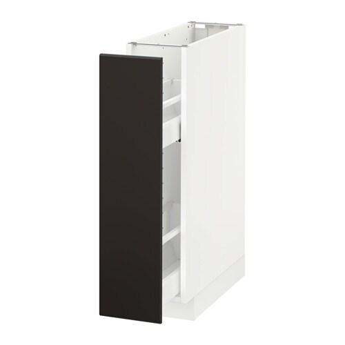 metod unterschrank ausziehb einrichtg wei kungsbacka anthrazit 20x60 cm ikea. Black Bedroom Furniture Sets. Home Design Ideas