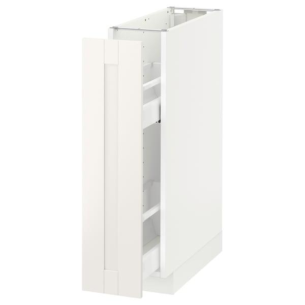 METOD Unterschrank+ausziehb. Einrichtg., weiß/Sävedal weiß, 20x60 cm