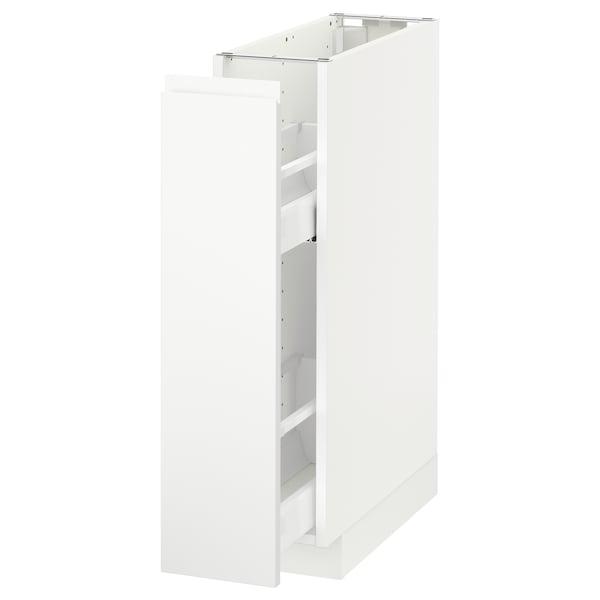 METOD Unterschrank+ausziehb. Einrichtg., weiß/Voxtorp matt weiß, 20x60 cm