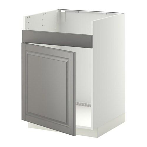 Build Kitchen Island Ikea Cabinets ~ METOD Unterschrank f DOMSJÖ Spüle 1 , weiß, Bodbyn grau Tiefe 61 9