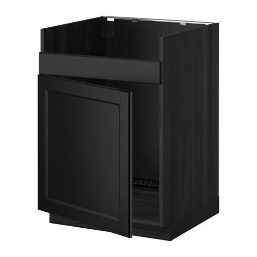 metod unterschrank f domsj sp le 1 holzeffekt schwarz laxarby schwarzbraun ikea. Black Bedroom Furniture Sets. Home Design Ideas