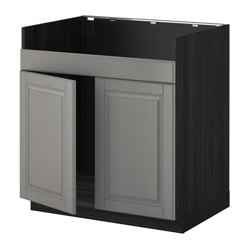 metod unterschrank f domsj sp le 2 bodbyn grau holzeffekt schwarz ikea. Black Bedroom Furniture Sets. Home Design Ideas