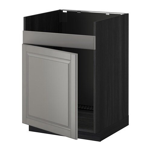 metod unterschrank f domsj sp le 1 holzeffekt schwarz bodbyn grau ikea. Black Bedroom Furniture Sets. Home Design Ideas
