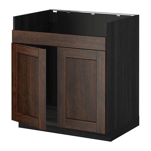 metod unterschrank f domsj sp le 2 holzeffekt schwarz edserum holzeffekt braun ikea. Black Bedroom Furniture Sets. Home Design Ideas