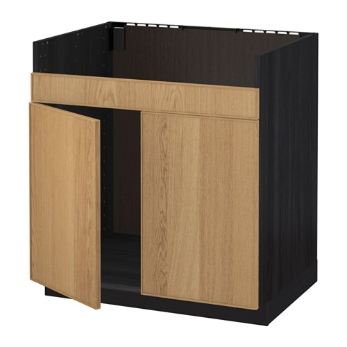 metod unterschrank f domsj sp le 2 holzeffekt schwarz ekestad eiche ikea. Black Bedroom Furniture Sets. Home Design Ideas