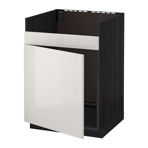 metod unterschrank f domsj sp le 1 holzeffekt schwarz ringhult hochglanz hellgrau ikea. Black Bedroom Furniture Sets. Home Design Ideas