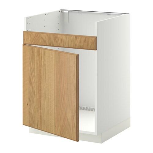 metod unterschrank f domsj sp le 1 wei hyttan eichenfurnier ikea. Black Bedroom Furniture Sets. Home Design Ideas