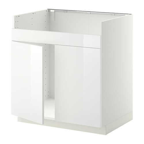 metod unterschrank f domsj sp le 2 wei ringhult hochglanz wei ikea. Black Bedroom Furniture Sets. Home Design Ideas