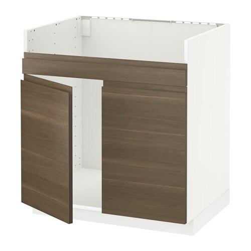 metod unterschrank f havsen sp le 2 wei voxtorp nussbaumnachbildung ikea. Black Bedroom Furniture Sets. Home Design Ideas