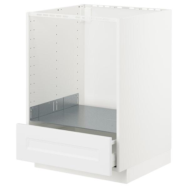 METOD Unterschrank für Ofen mit Schubl, weiß/Axstad matt weiß, 60x60 cm
