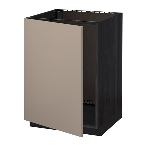 metod unterschrank f r sp le holzeffekt schwarz ubbalt dunkelbeige ikea. Black Bedroom Furniture Sets. Home Design Ideas